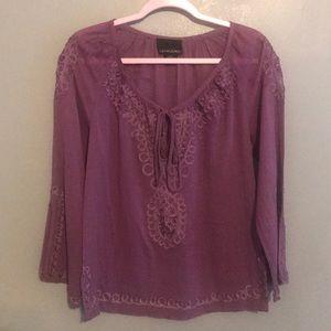 Cynthia Rowley Purple Shirt